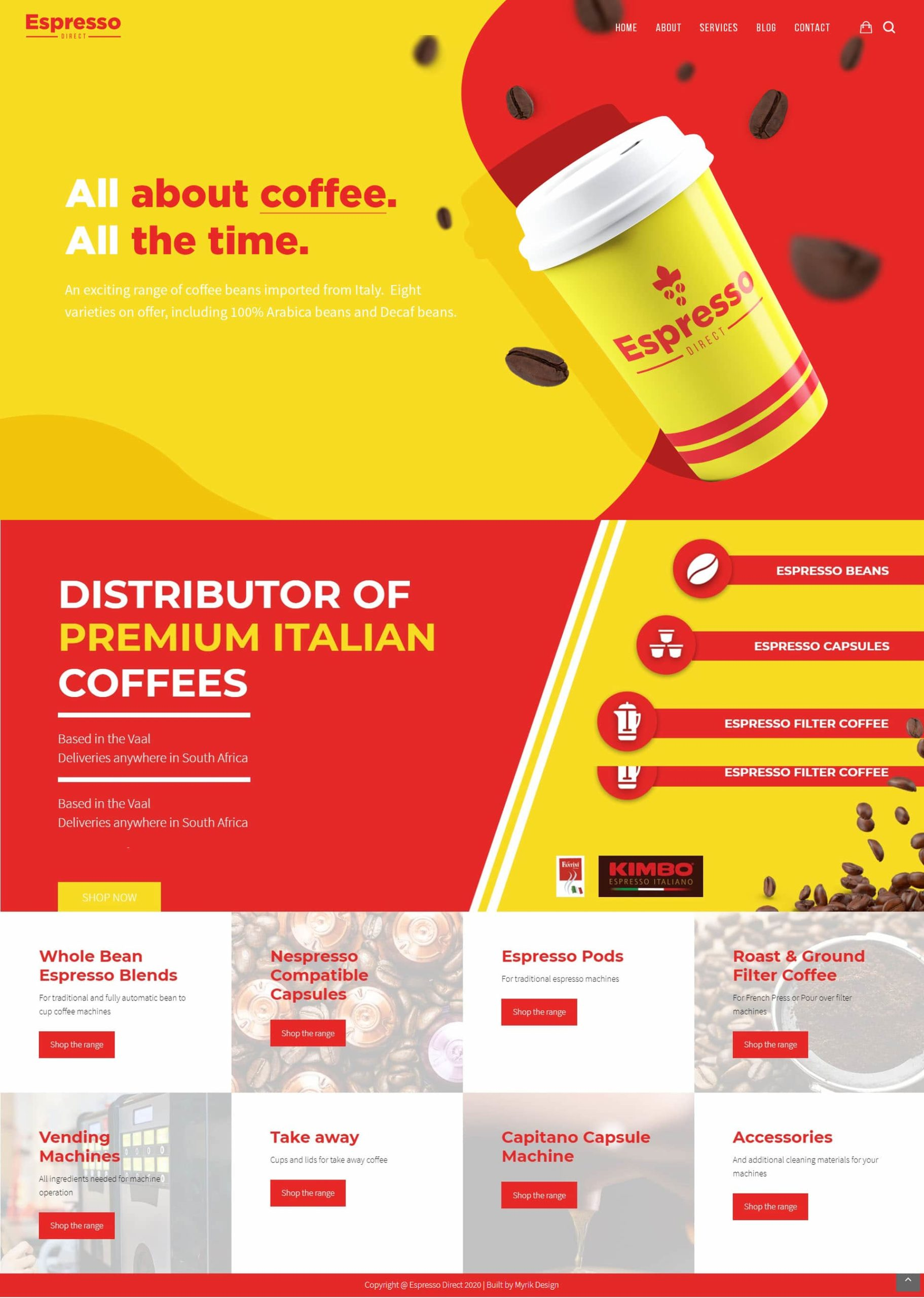 Espresso Direct Website MockupArtboard 1